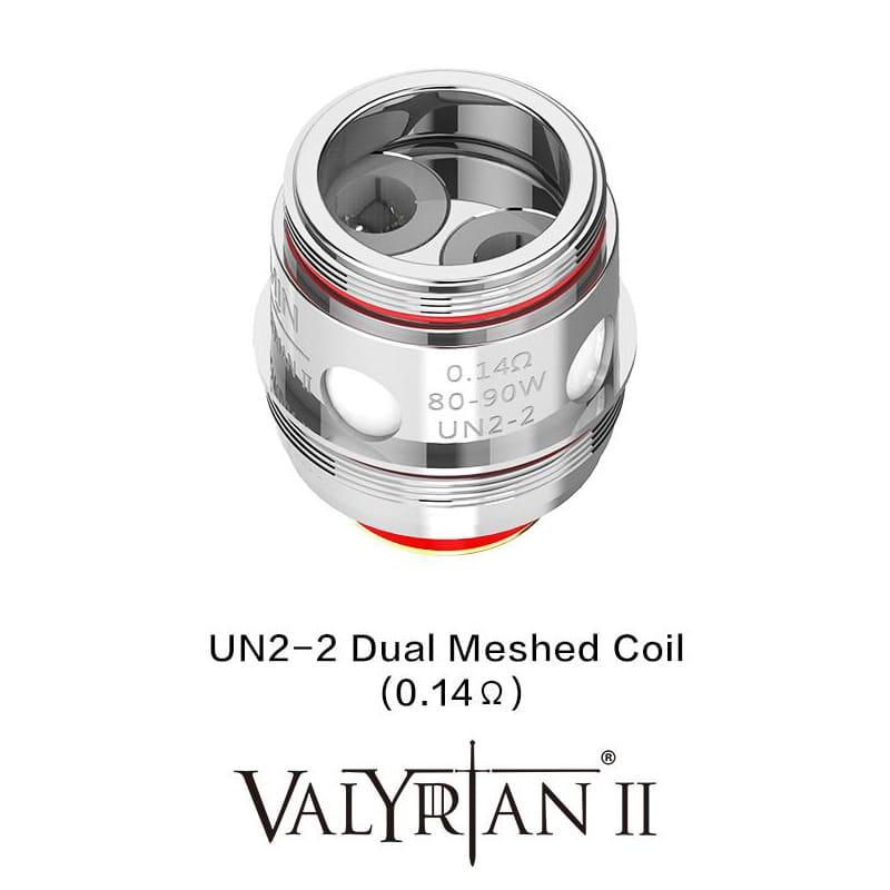 Uwell Valyrian 2 UN2-2 Doppel Sieb Verdampferkopf 0.14 Ohm 2er Pack – Bild 2