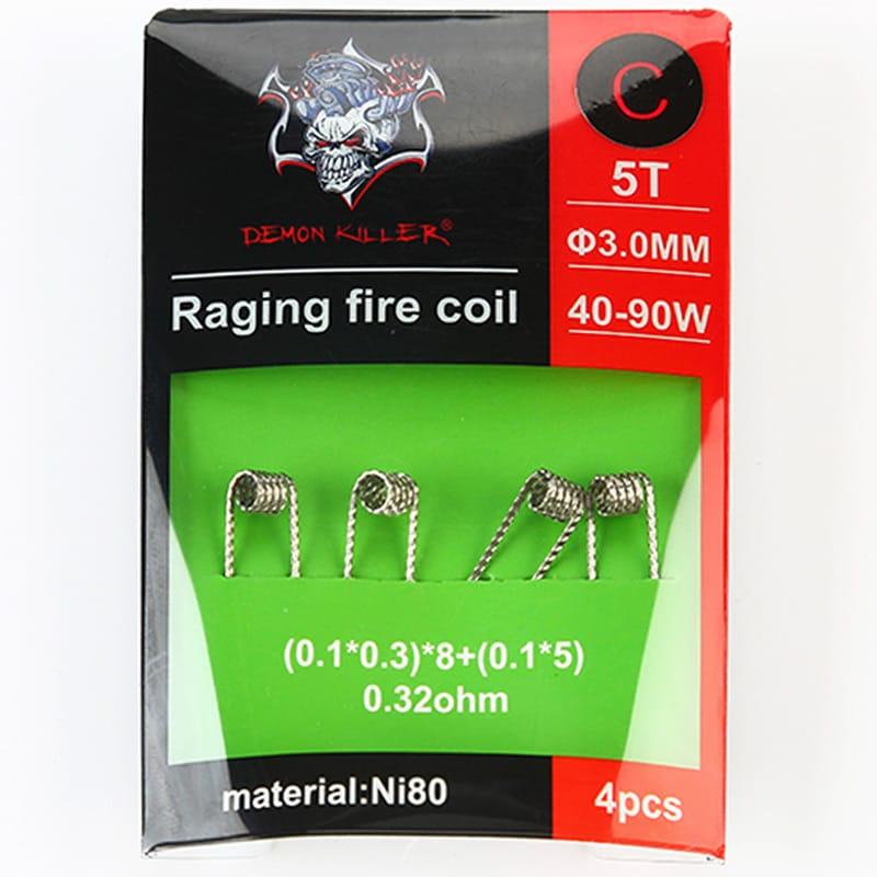 Demon Killer Ni80 Raging Fire Fertigcoil Typ C (4 Stück) – Bild 1
