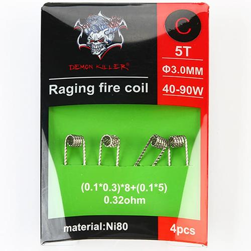 Demon Killer Ni80 Raging Fire Fertigcoil Typ C (4 Stück)