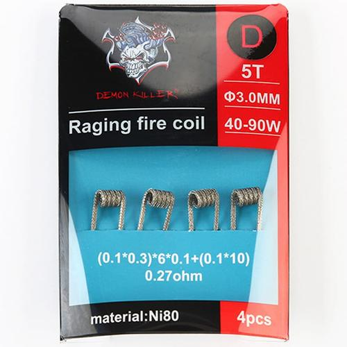 Demon Killer Ni80 Raging Fire Fertigcoil Typ D (4 Stück)