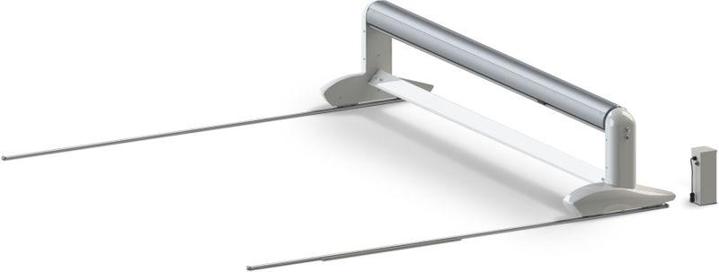 OpenSurf - Automatische, mobile elektrische Überflur Rolladen Abdeckung mit Endabschaltung mit Schienen. Insbesondere auch für Ovalbecken.