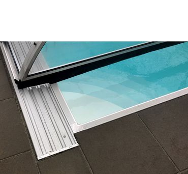 conZero SuperFunctional Poolüberdachung -  4mm Polycarbonat volltransparent für conZero Ovalbecken - mittelhoch