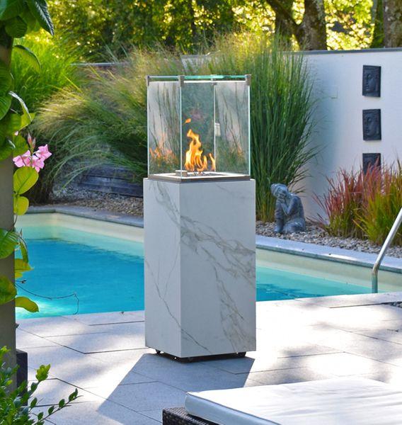 conZeroFireCube Exclusive -  Edler Terrassenheizer in 14 verschiedenen Keramik Oberflächen