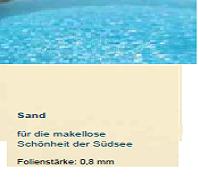 Schwimmbecken Auskleidung 0,8 mm für Rundbecken Höhe 120 cm