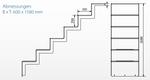Universaltreppe zum nachträglichen Einbau - 5 stufig lang mit Plattform Bild 3