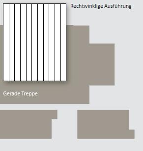 PVC Lamellen für Rollladenabdeckungen - Zuschnitt für Rechtecktreppen
