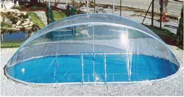 Cabrio Dome Überdachung für Rundbecken von 2,50 m bis 6 m Durchmesser