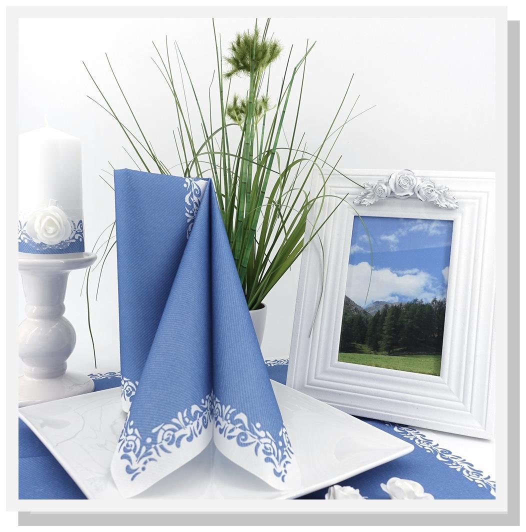 Servietten-blau-Hochzeit
