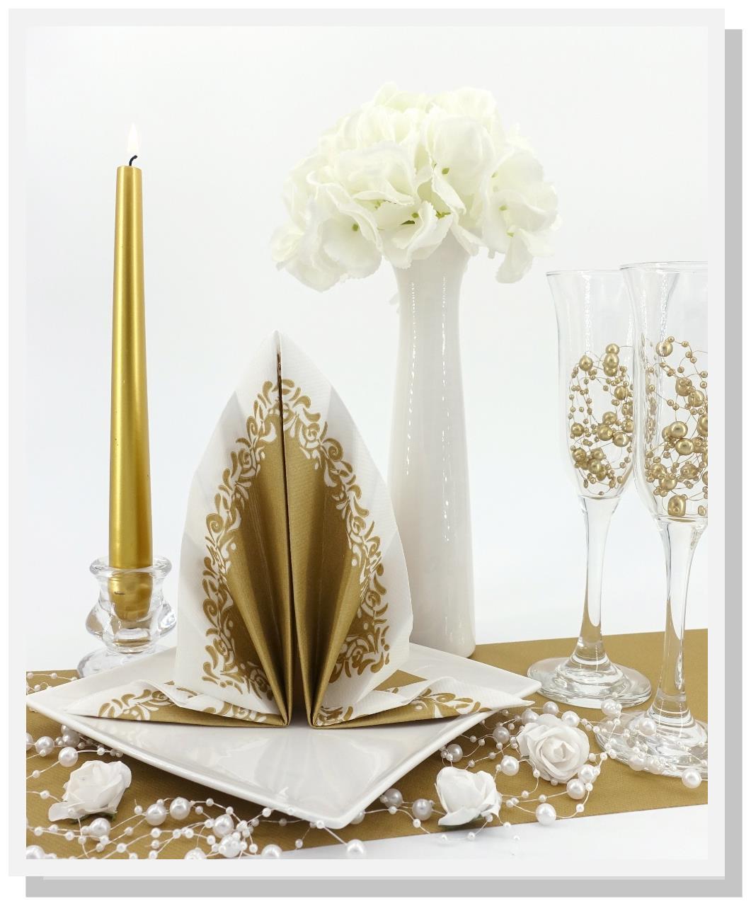 Servietten-gold-Hochzeit