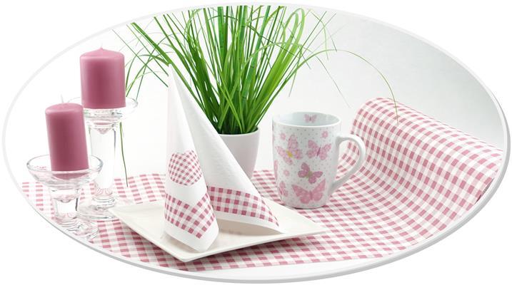 Servietten mit passendem Tischband oder Tischläufer