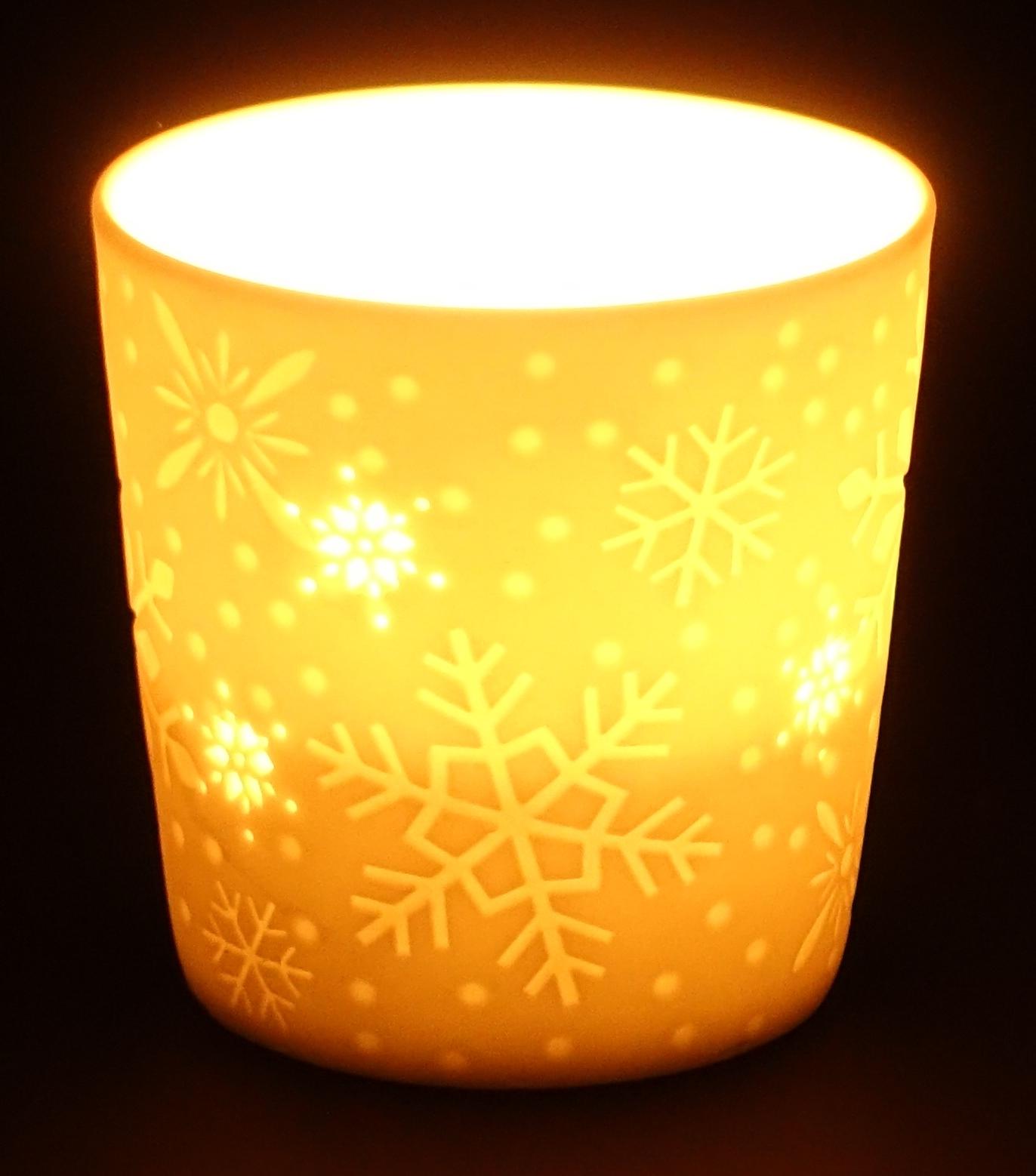 Teelichtbecher-Schneeflocke