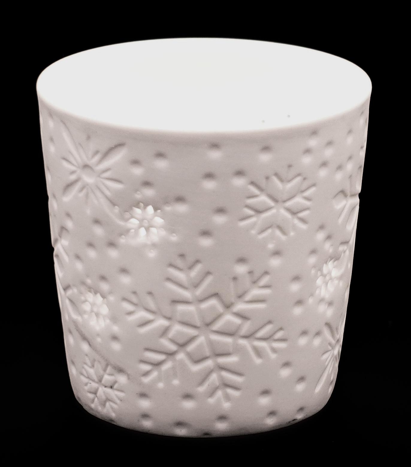 Teelichthalter-Schneeflocke