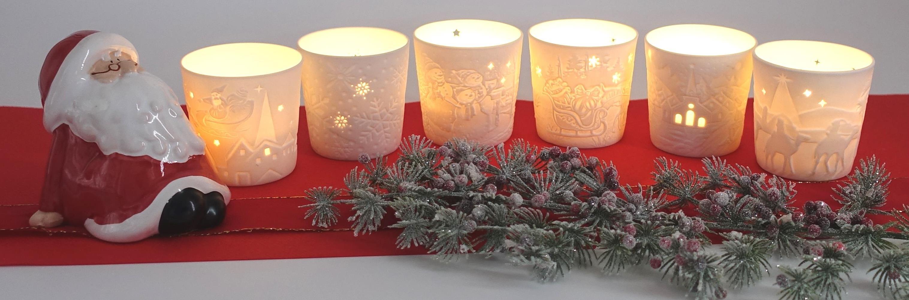 Teelichthalter-Weihnachtsmotiv