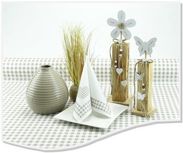 Papiertischdecke grau braun oder taupe in 1m Breite