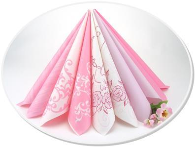 Tischdeko von Rosa über Altrosa bis Pink
