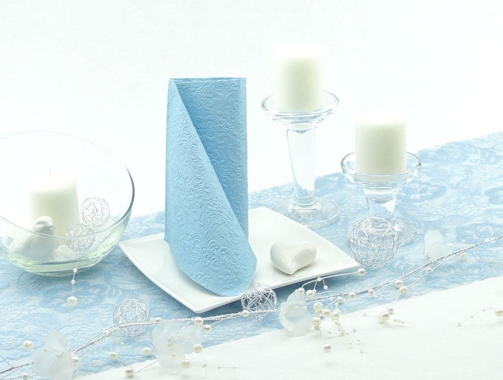 Tischläufer Sizolace und Prägeservietten Elegance - Ein perfektes Paar