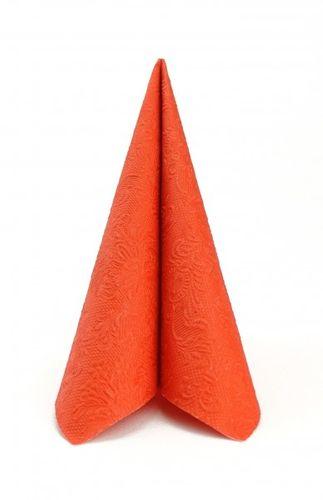Dinner Prägeserviette 40x40cm - DESIGN ELEGANCE UNI orange