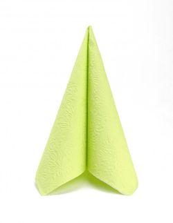 Lunch Prägeservietten 33x33cm - DESIGN ELEGANCE UNI light green 001