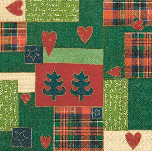 Lunch Serviette Weihnachten - DESIGN PATCHWORK FOR XMAS