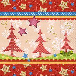 Lunch Serviette Weihnachten - MULTI-COLOURED XMAS 001