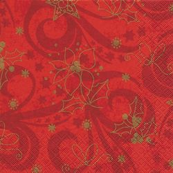 Lunch Serviette 33 x 33 cm - CLASSICAL CHRISTMAS rot 001