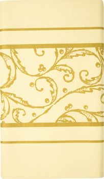 Airlaid Tischdecke 180 x 120cm - SCROLL creme/gold 001