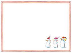 Airlaid Tischsets Weihnachten 30 x 40cm - DESIGN 3 SNOWMEN