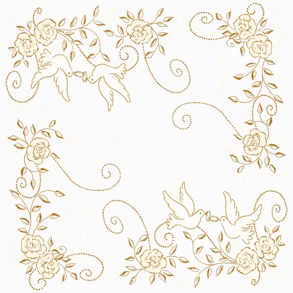 50 airlaid hochzeitservietten 40x40 cm design hochzeit creme gold servietten airlaid servietten. Black Bedroom Furniture Sets. Home Design Ideas