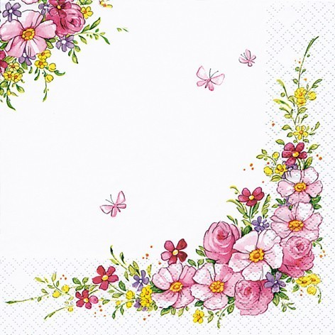 Lunch Servietten Blumen 33 x 33 cm - DESIGN CUTE FLOWERS