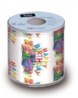 Geschenk Toilettenpapier Geburtstag mit DESIGN HAPPY B-DAY 001
