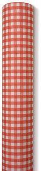 Airlaid Papiertischdecke für Biertische rot kariert 0,80x25m