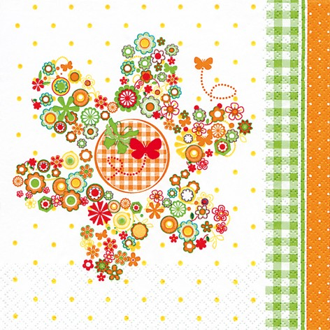 Lunch Servietten 33 x 33 cm - DESIGN FLOWERS IN A FLOWER