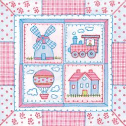 Lunch Servietten Taufe bedruckt - DESIGN CHILDREN'S PATCHWORK 001