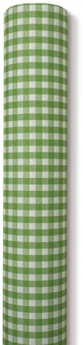 Airlaid Papiertischdecke für Biertische grün kariert 0,80x25m