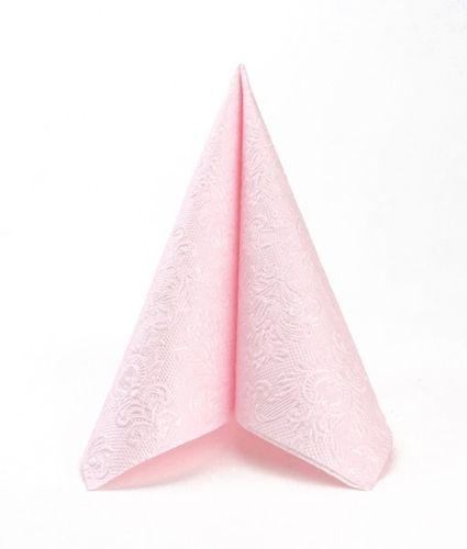 Lunch Prägeserviette 33x33cm - DESIGN ELEGANCE pearl pink