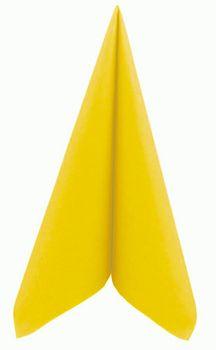 50 Mank Servietten UNI gelb 40x40 cm 001