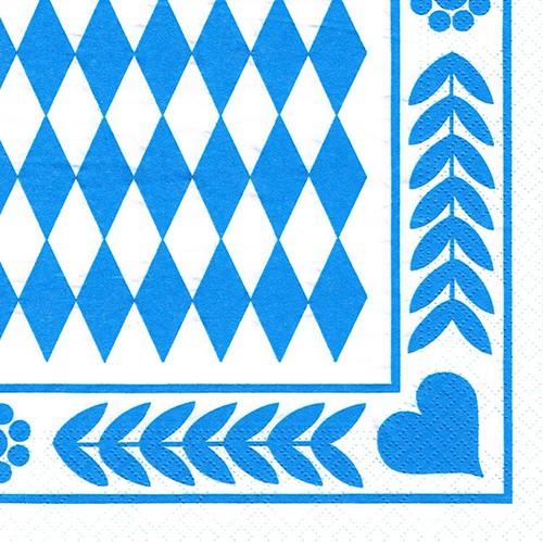 20 Blau karierte Servietten Oktoberfest - Design BAYRISCH BLAU