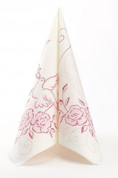 50 Airlaid Hochzeitservietten 40x40 cm DESIGN - HOCHZEIT rosa bordeaux