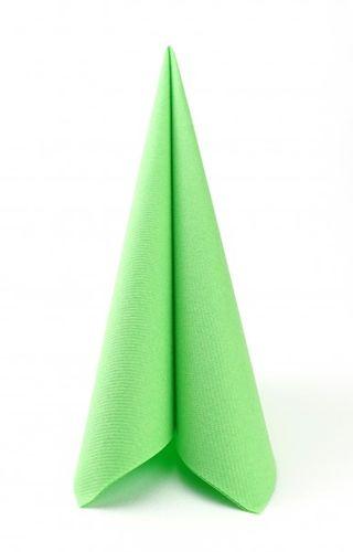 50 Mank Airlaid Servietten apfel grün UNI 40x40 cm