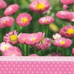 Lunch Serviette Frühling Sommer - Design DAISY MEADOW 001