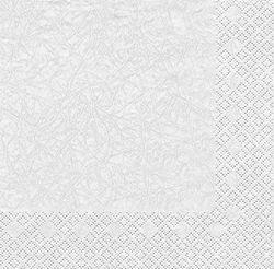 Cocktail Serviette marmoriert 25x25 cm - Design Modern Colours WEIß