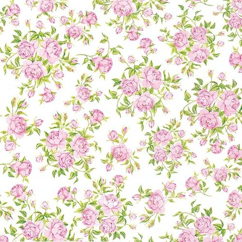 Airlaid Servietten Rosen 40x40cm - Design LITTLE ROSES