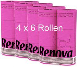 24 Rollen buntes farbiges Toilettenpapier in Folie FUCHSIA PINK 001