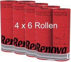 24 Rollen buntes farbiges  Toilettenpapier in Folie ROT 001