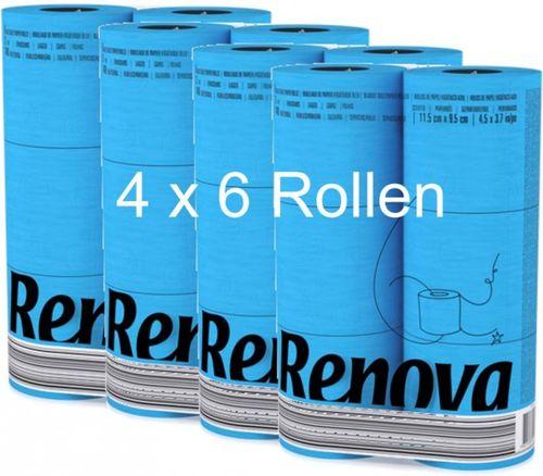 24 Rollen farbiges buntes Toilettenpapier in Folie  BLAU