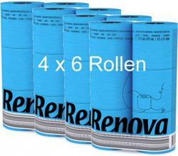 24 Rollen farbiges buntes Toilettenpapier in Folie  BLAU 001