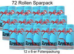 72 Rollen farbiges buntes Toilettenpapier 2-lagig - BLAU