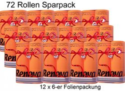 72 Rollen farbiges buntes Toilettenpapier 2-lagig - ORANGE 001