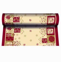 Tischläufer Weihnachten 24m x 40 cm - Design CHRISTMAS SYMBOLS