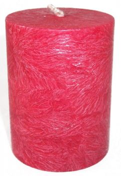 10 Stearin Stumpenkerzen 65 x50 mm - ROT 001